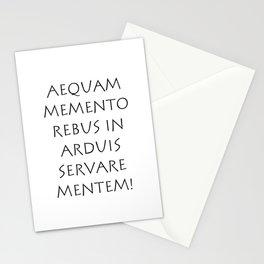 Aequam memento rebus in arduis servare mentem Stationery Cards