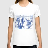 blueprint T-shirts featuring MY LITTLE SISTER BLUEPRINT by Sofia Youshi
