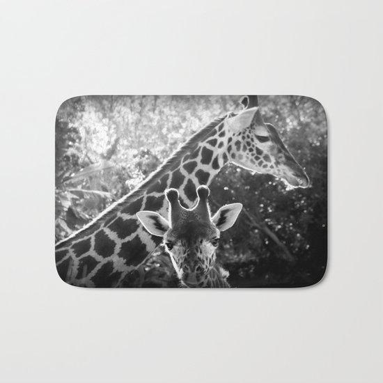 two giraffes Bath Mat