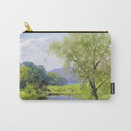 Old mill - Hermann Ottomar Herzog Carry-All Pouch