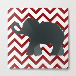 Roll Tide Elephant Crimson Tide Alabama Metal Print
