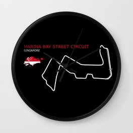 Marina Bay Street Circuit Wall Clock