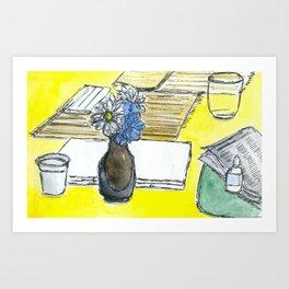 Mini Ikebana on a table Art Print