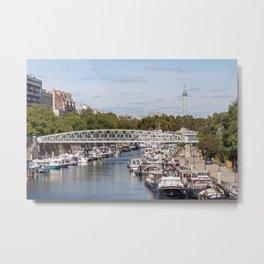 Canal Saint Martin - Paris Metal Print
