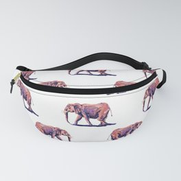 Pink elephant with quote Fanny Pack