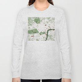 London city map minimal Long Sleeve T-shirt