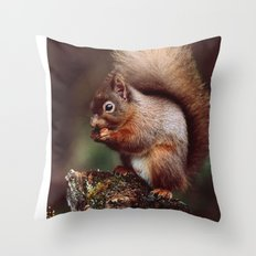 RED SQUIRREL. Throw Pillow