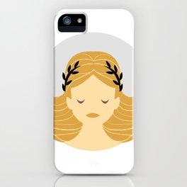 Virgo Zodiac Sign Symbol: The Maiden iPhone Case