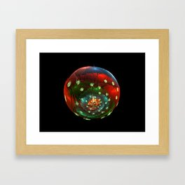 Life in a glass bubble Framed Art Print