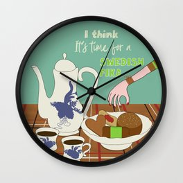 Swedish fika collection #3 Wall Clock