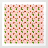 Strawberry Plant Art Print