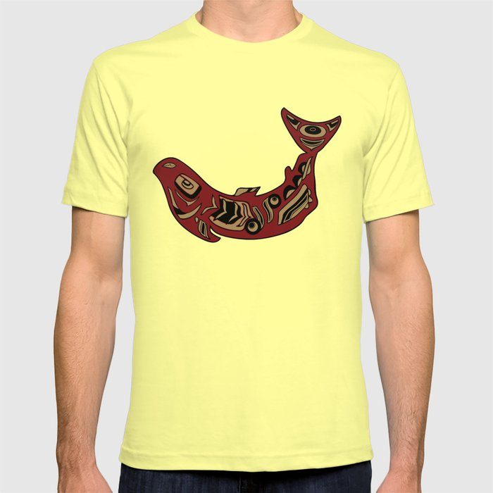 Pacific Northwest Salmon Native American Indian Art T-shirt by ...