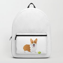 Corgi Dog with a Green Ball Backpack