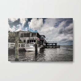 Riverside Dining Metal Print
