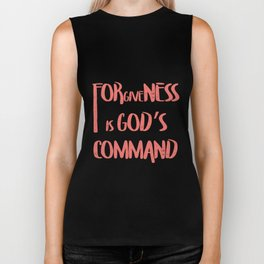 Selichot - Forgiveness is Gods Command Biker Tank