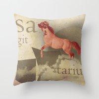 sagittarius Throw Pillows featuring sagittarius by Rosa Picnic