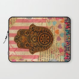 Hearts and Butterfly Hamsa Laptop Sleeve