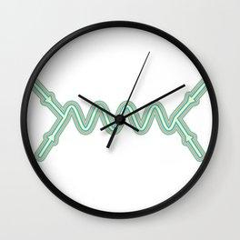 Retro Feynman Diagram Wall Clock