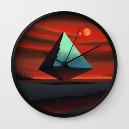 Moon Pyramid Wall Clock