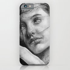 Angelina Jolie Traditional Portrait Print iPhone 6s Slim Case