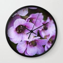Spring purple flowers Wall Clock