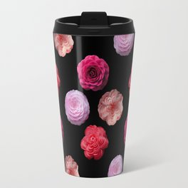Pattern with camellias Travel Mug