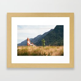 Mountain View in Hope, BC Framed Art Print