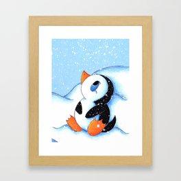 Antarctic Flurry Framed Art Print