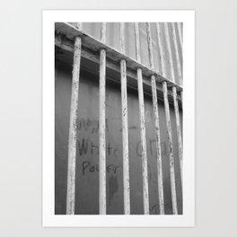dusty window graffiti Art Print
