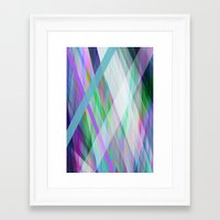 rave Framed Art Prints featuring Crystal Rave by GS Designs