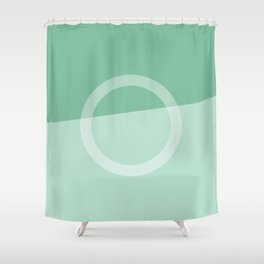 Slice of Modern Shower Curtain