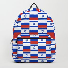 Mix of flag: israel and Russia Backpack