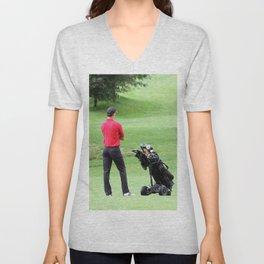 The golfer Unisex V-Neck