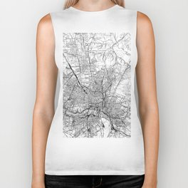 Vintage Map of Richmond Virginia (1934) BW Biker Tank