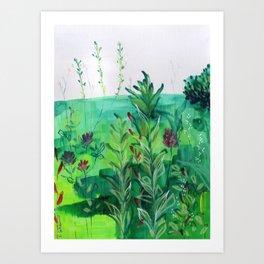 Buffalo Wildflowers - 7 Art Print