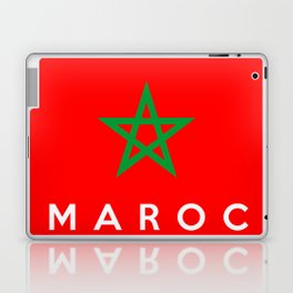 morocco Maroc country flag french name text Laptop & iPad Skin