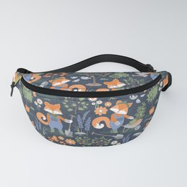 The foxy gardener // orange foxes Fanny Pack