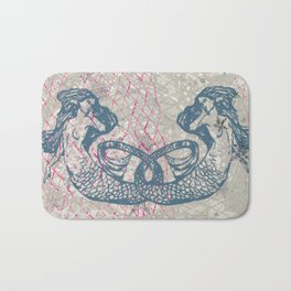 Double Mermaids Bath Mat