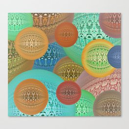 Retro Vintage Knitted Spheres Canvas Print