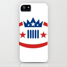 American Football Ball Crown Star Icon iPhone Case
