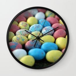 Colorful Candy Eggs Wall Clock
