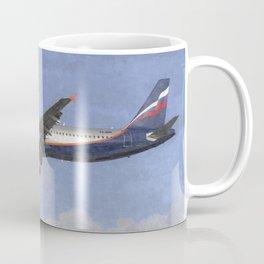 Aeroflot Airbus A321 Art Coffee Mug
