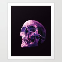 skull Art Prints featuring Skull by Roland Banrevi