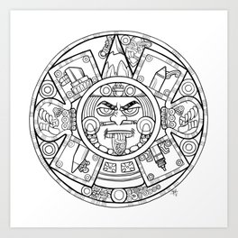 Pencil Wars Shield Art Print