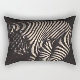 Zebra Woman No.1 Rectangular Pillow