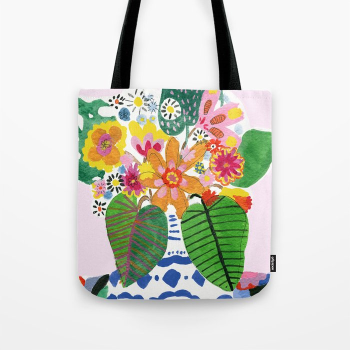 Abstract Flower Bouquet Tote Bag