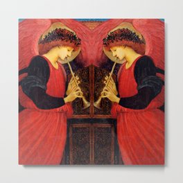 "Edward Burne-Jones ""An Angel Playing a Flageolet"" (2) Metal Print"