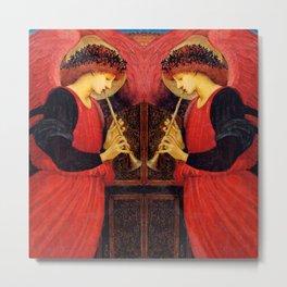 "Edward Burne-Jones ""An Angel Playing a Flageolet"" (2) Metal Print"