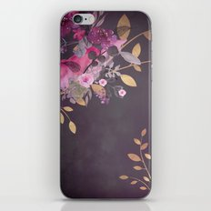 FLOWERS & GOLD  iPhone & iPod Skin