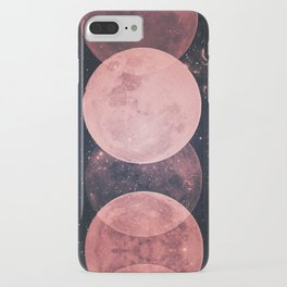 Pink Moon Phases iPhone Case